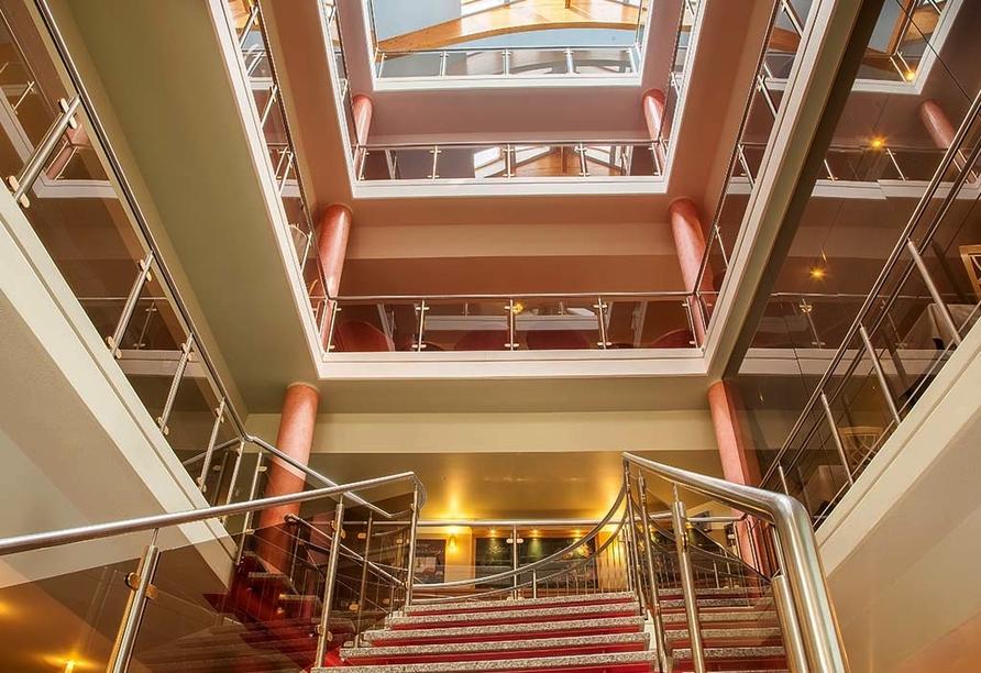 Hotel Kammweg in Neustadt am Rennsteig, Treppe
