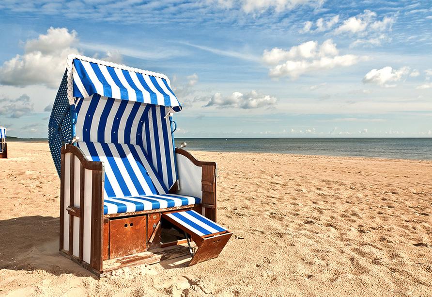 Ostsee Autorundreise, Strandkorb