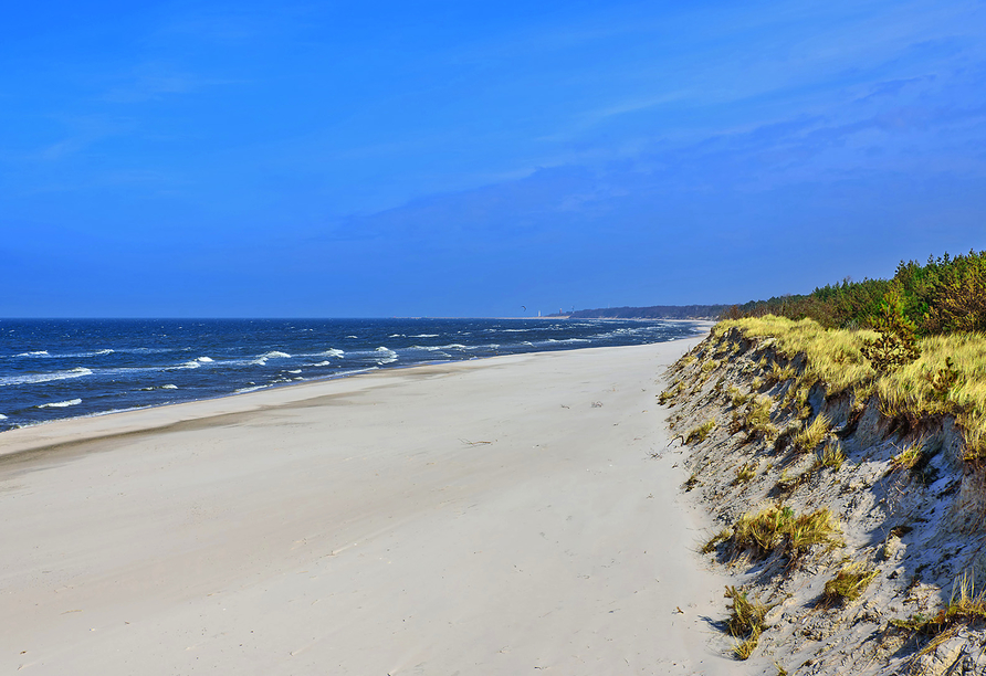 Hotel Siesta, Gribow, Polnische Ostsee, Polen, Strand