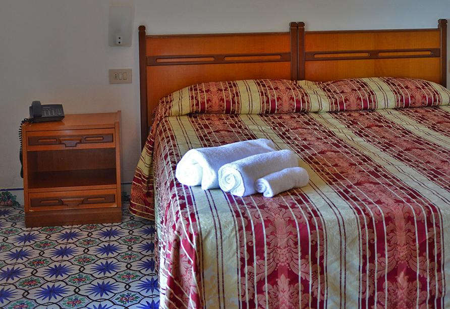 Beispiel eines Doppelzimmers im Hotel Al Bosco Terme.