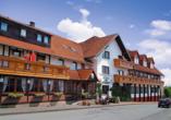 Hotel Zur Igelstadt in Lichtenfels-Fürstenberg im Hessischen Bergland Außenansicht