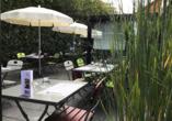Hotel Campanile Colmar Parc des Expositions im Elsass, Terrasse