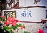 Sport & Vitalhotel Seppl in St. Leonhard im Pitztal Tirol, Eingang
