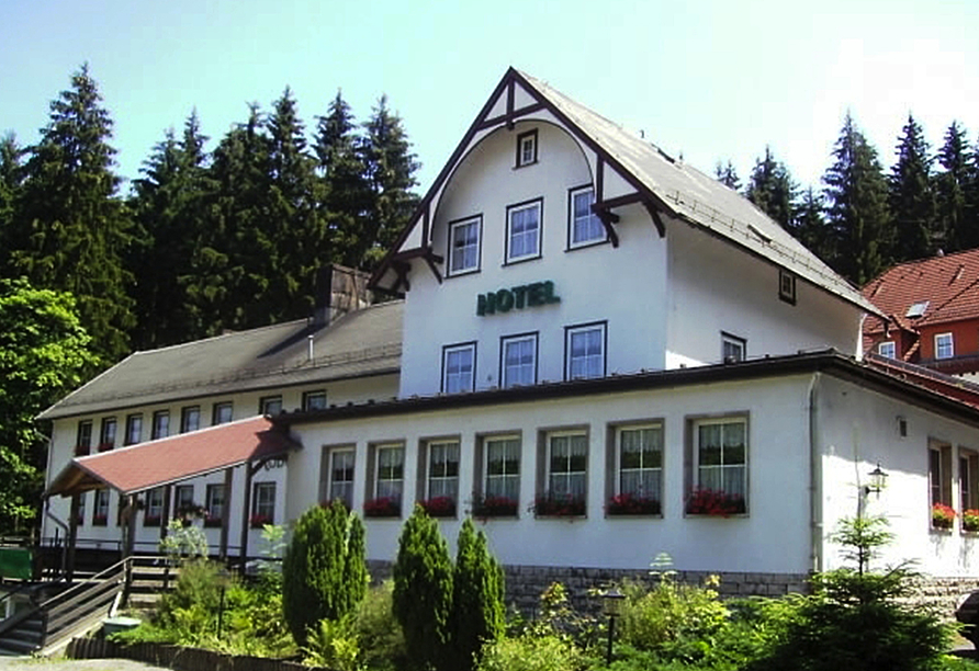 Hotel Rodebachmühle in Georgenthal im Thüringer Wald Außenansicht