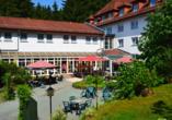 Hotel Rodebachmühle in Georgenthal im Thüringer Wald Terrasse