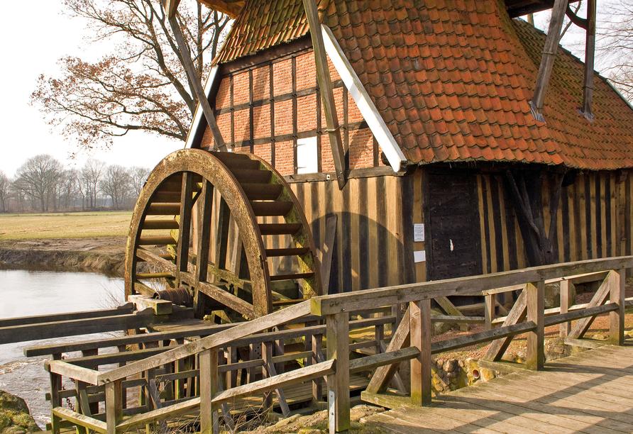Hotel Zur Linde in Heede Ausflugsziel Huevener Mühle