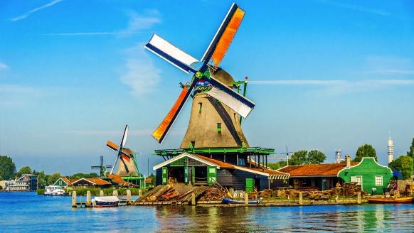 Best Western Hotel Zaan Inn in Zaandam Niederlande, Windmühle