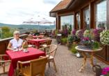 Panorama Hotel Heimbuchenthal, kleine Terrasse