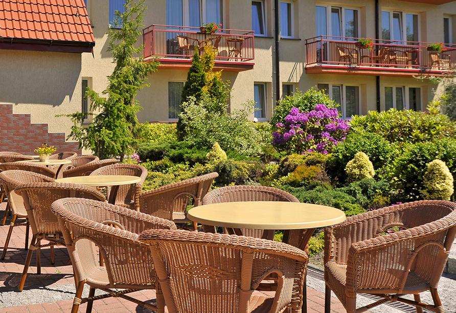 Kormoran Wellness Medical Spa, Rowe, Polnische Ostsee, Polen, Sonnenterrasse