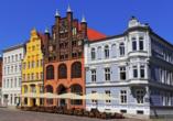 Hotel Rügenblick, Historische Häuser in Stralsund