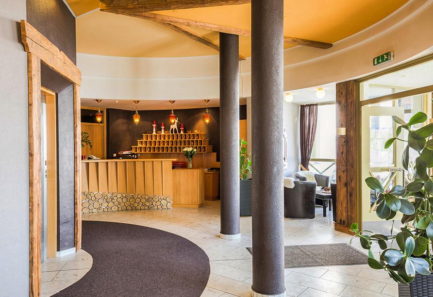 Hotel Laurenzhof in Lendorf, Empfangsbereich