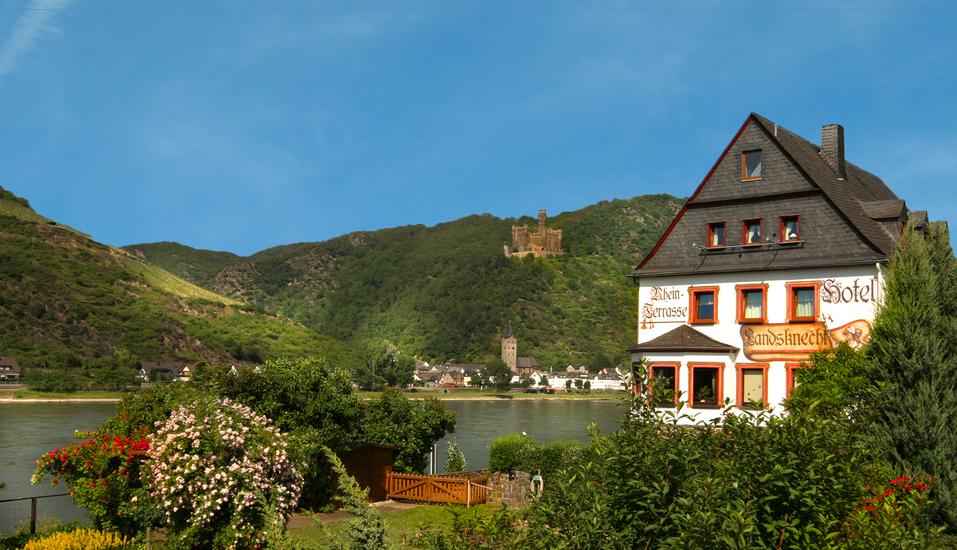 Weinhotel Landsknecht in St. Goar am Rhein, Außenansicht