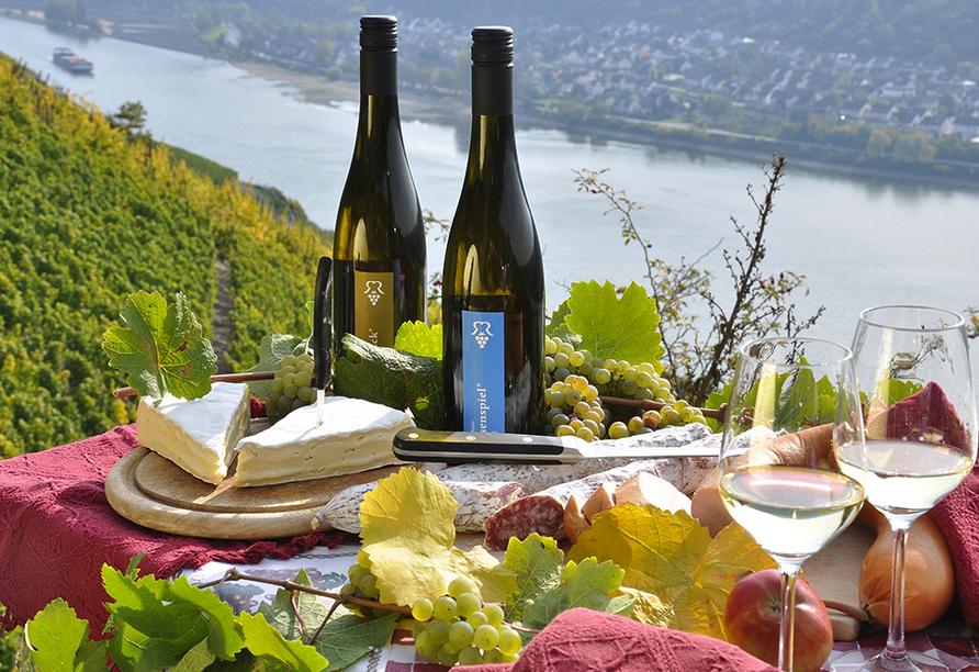 Weinhotel Landsknecht in St. Goar am Rhein, Wein