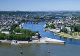 Weinhotel Landsknecht in St. Goar am Rhein, Ausflugsziel Koblenz