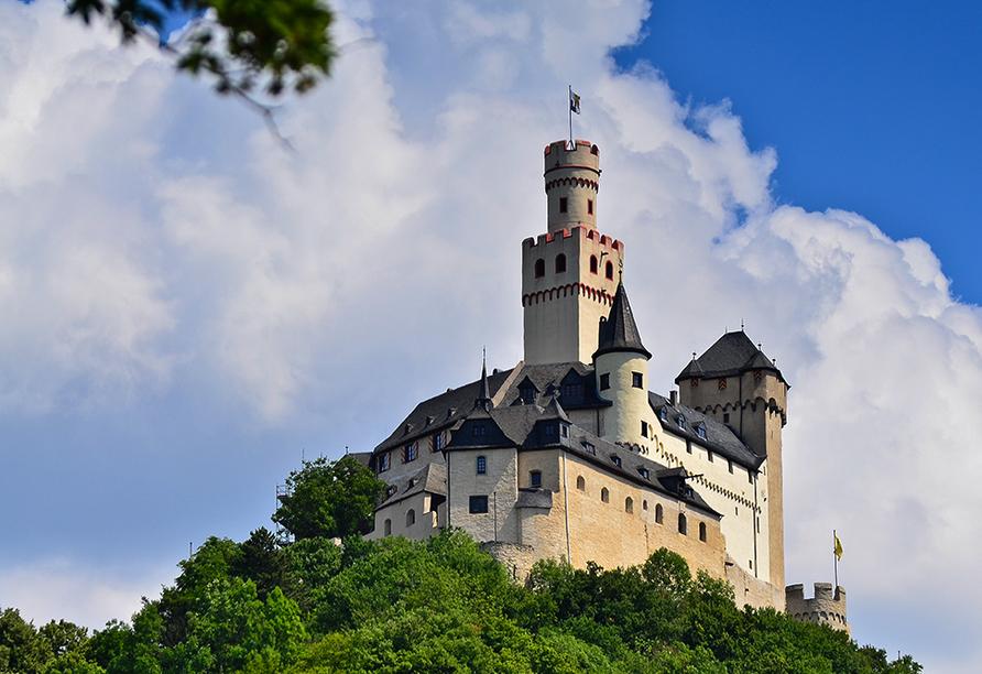 Weinhotel Landsknecht in St. Goar am Rhein, Marksburg