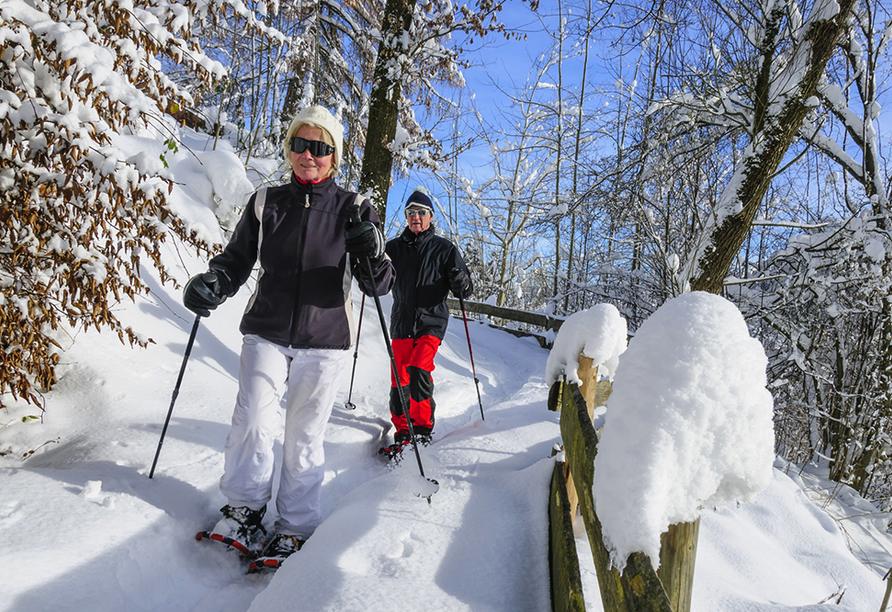 CAREA sunotel Kreuzeck in Goslar-Hahnenklee im Harz, Schneeschuhwanderung