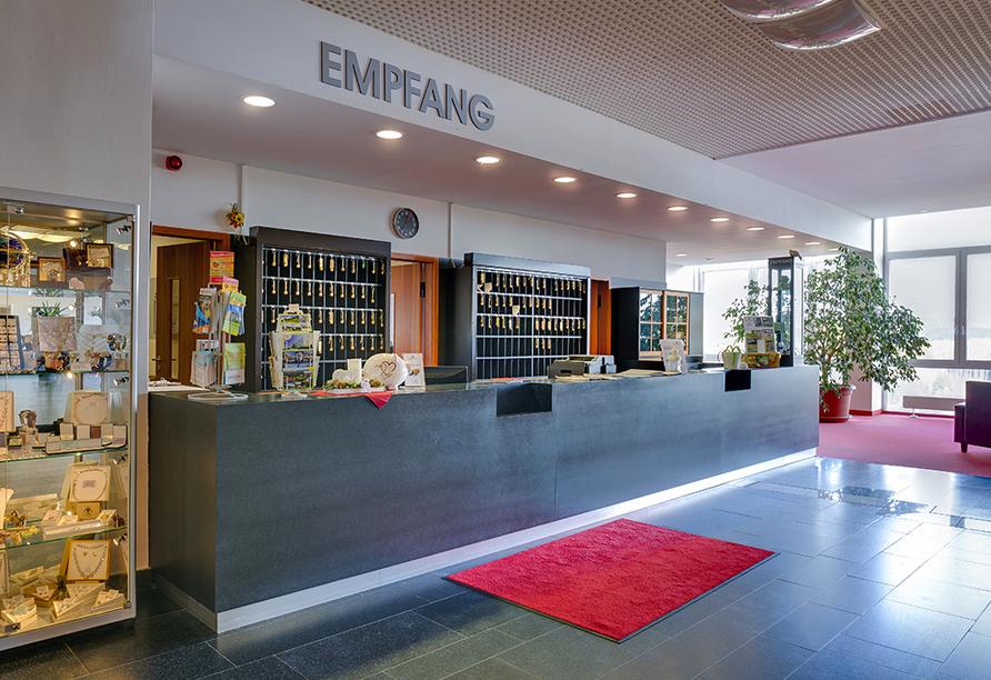 Ferien Hotel Rennsteigblick in Friedrichroda, Eingang