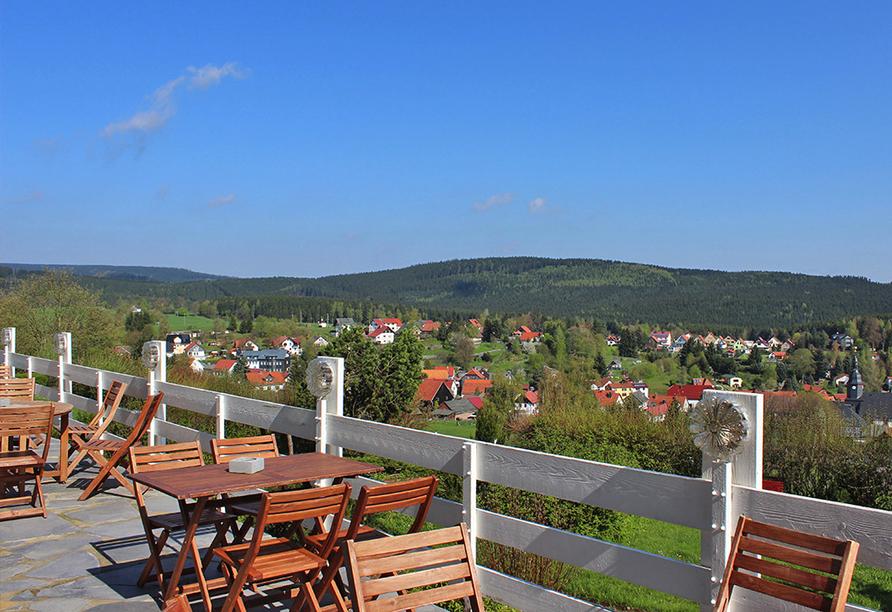 Ferien Hotel Rennsteigblick in Friedrichroda, Terrasse