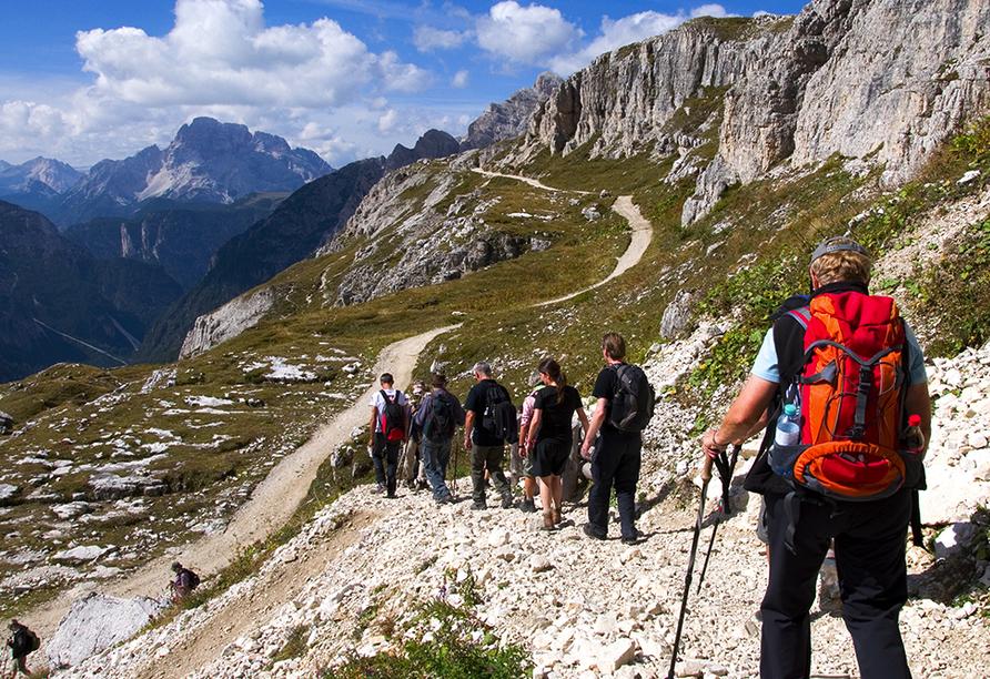 JUFA Wipptal, Wandertour Dolomiten
