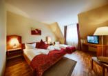 Hotel Auerhahn am Rennsteig in Masserberg, Beispiel Doppelzimmer mit Zustellbett