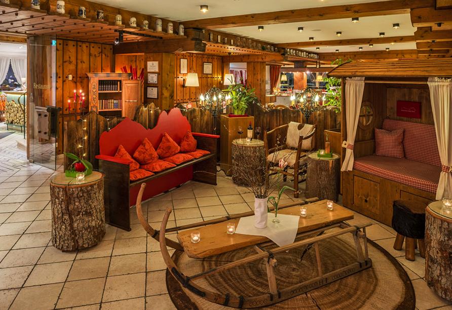 Hotel Rheinischer Hof Garmisch-Partenkirchen, Sitzecke