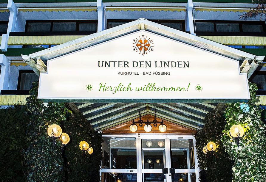 Kurhotel Unter den Linden in Bad Füssing, Eingang