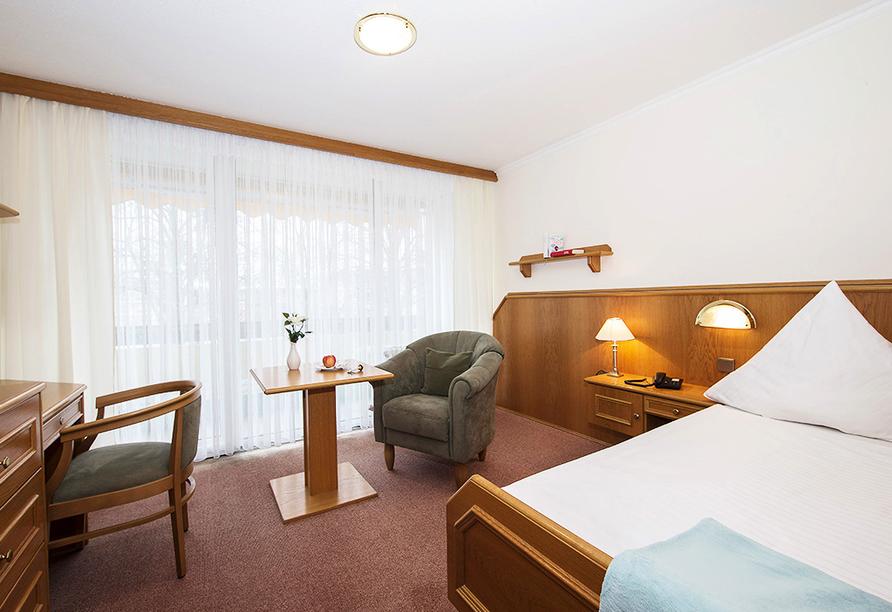 Kurhotel Unter den Linden in Bad Füssing, Einzelzimmerbeispiel