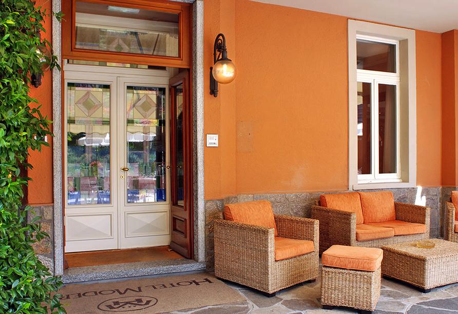 Hotel Moderno in Premeno, Terrasse