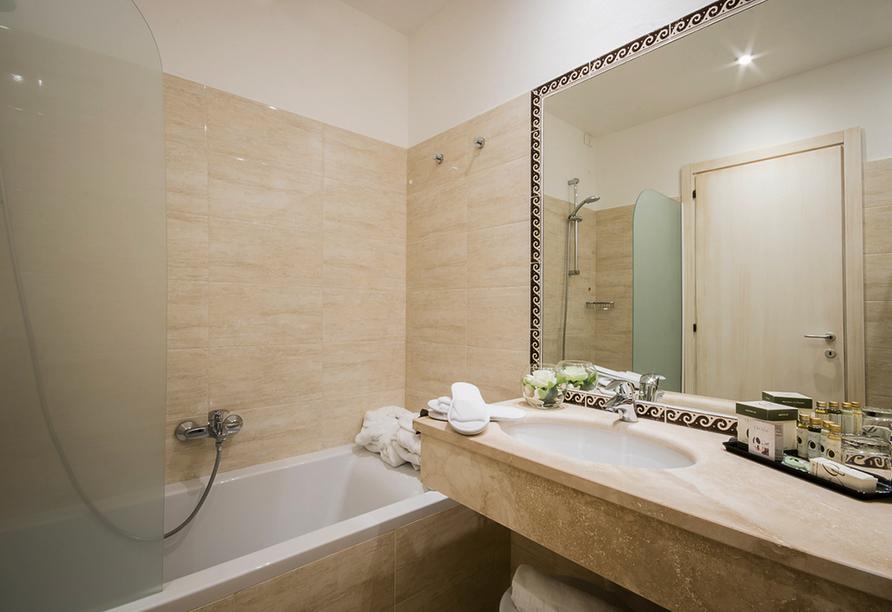 Hotel Executive, Beispiel Badezimmer
