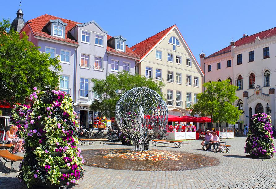 Flair Seehotel Zielow in Ludorf, Waren Rathausplatz