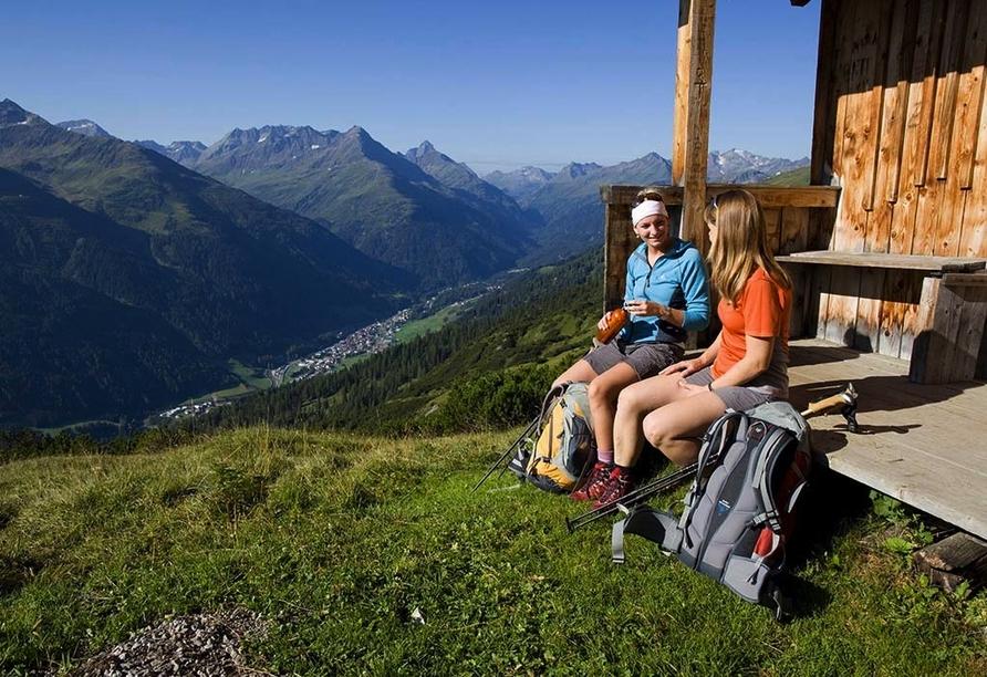Hotel Alpenhof in St. Anton am Arlberg, Österreich, Almhütte