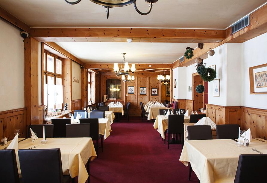 Hotel Strela in Davos Platz, Restaurant im Partnerhotel Ochsen