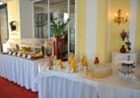 Hotel Elisabethpark in Bad Gastein im Salzburger Land, Frühstücksbuffet