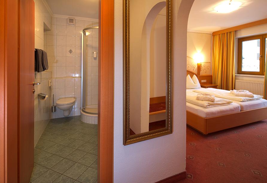 Hotel Berghof, Beispiel Doppelzimmer