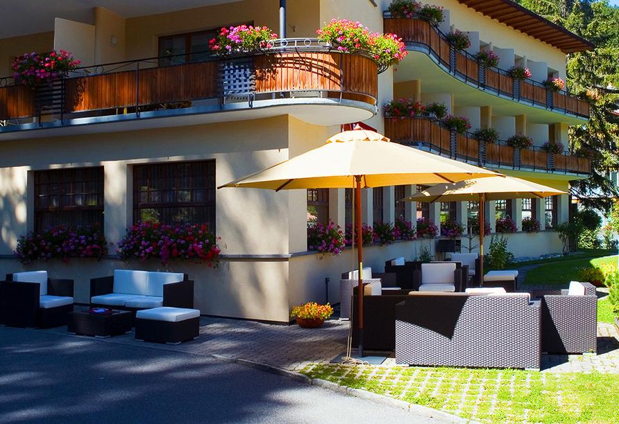 Hotel Strela in Davos Platz, Außenbereich