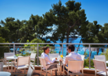 Hotel Aminess Grand Azur in Orebic, Terrasse
