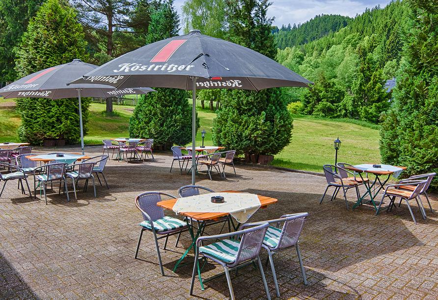 Berghotel Mellenbach in Mellenbach - Glasbach, Terrasse