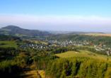 Hotel Lugsteinhof in Altenberg Zinnwald im Erzgebirge, Landschaft