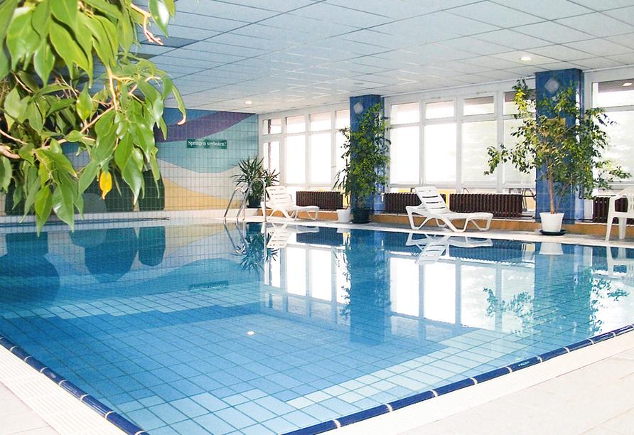 Hotel Lugsteinhof in Altenberg Zinnwald im Erzgebirge, Hallenbad