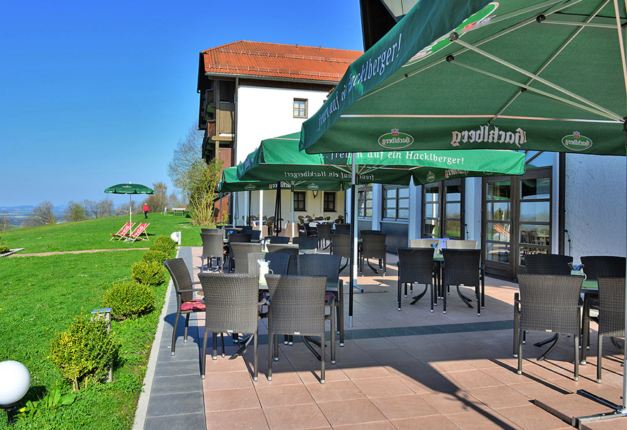 Michel & Friends Hotel Waldkirchen, Bayerischer Wald, Terrasse