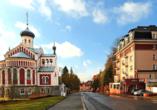 Hotel Richard in Marienbad in der Tschechischen Republik, Außenansicht