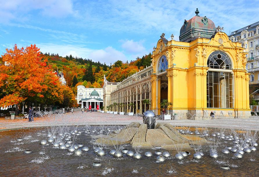 Hotel Richard in Marienbad in der Tschechischen Republik, Kolonnade