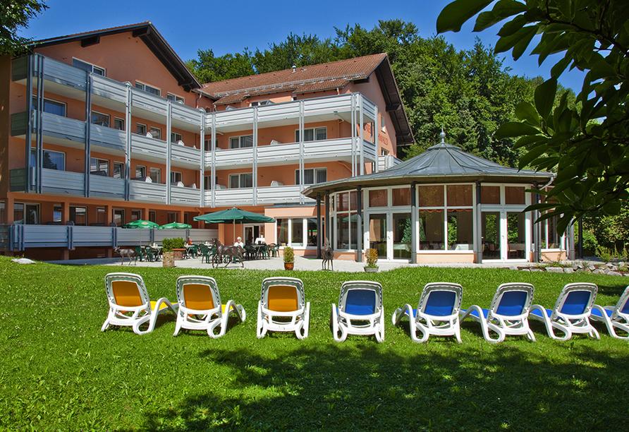 PTI Hotel Eichwald in Bad Wörishofen, Hotelgarten