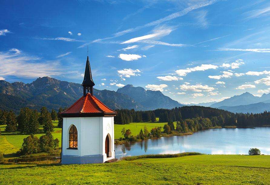 PTI Hotel Eichwald in Bad Wörishofen, Ausflugsziel Kapelle am See