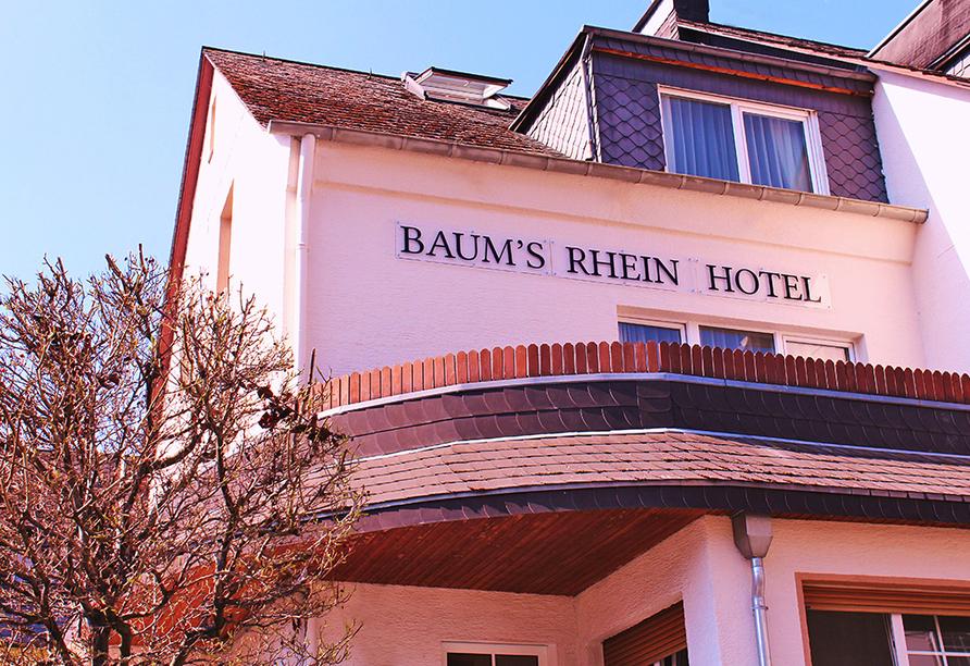 Baum´s Rheinhotel, Außenansicht