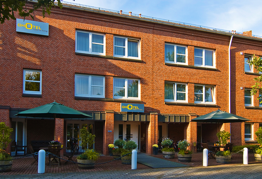 Ghotel hotel & living Kiel in Kiel an der Ostsee Außenansicht