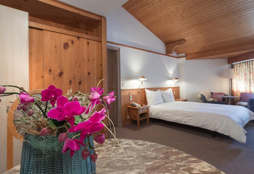 T3 Alpenhotel Flims, Beispieldoppelzimmer