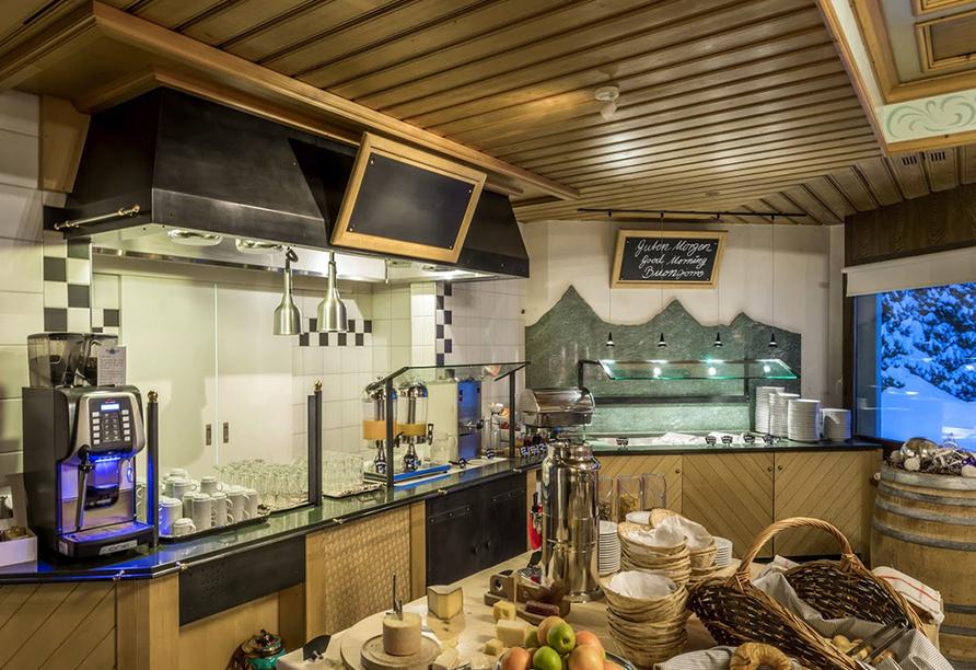 T3 Alpenhotel Flims, Reichhaltiges Buffet