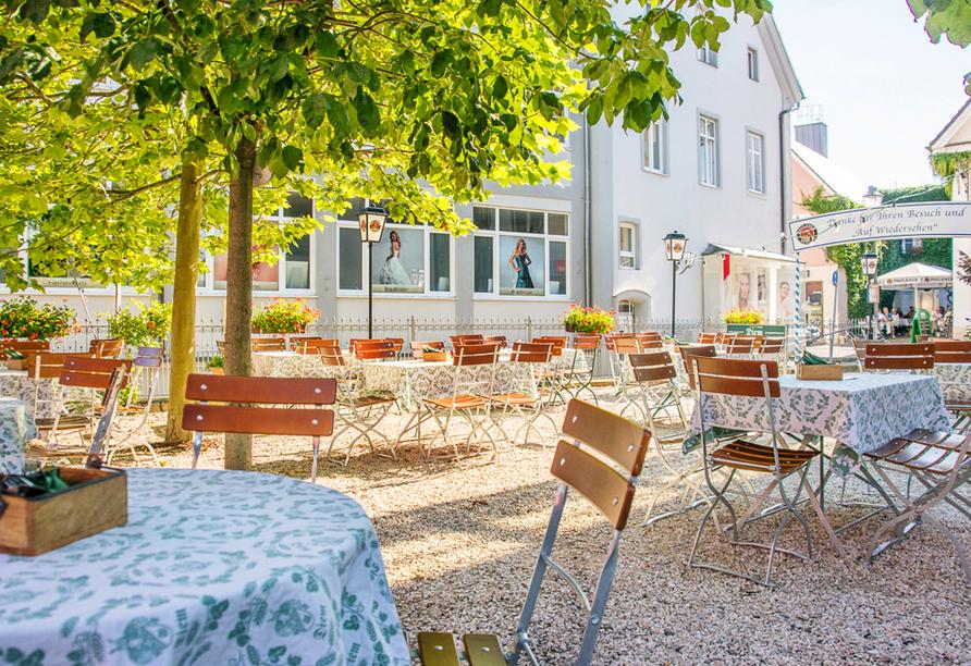 Hotel Diem in Krumbach in Mittelschwaben, Biergarten