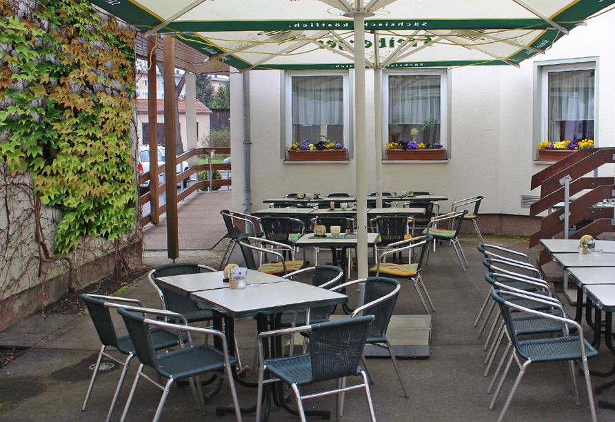 Hotel Riedel in Zittau in der Oberlausitz Biergarten